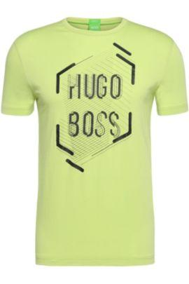 'Tee 1' | Cotton Logo T-Shirt, Light Green