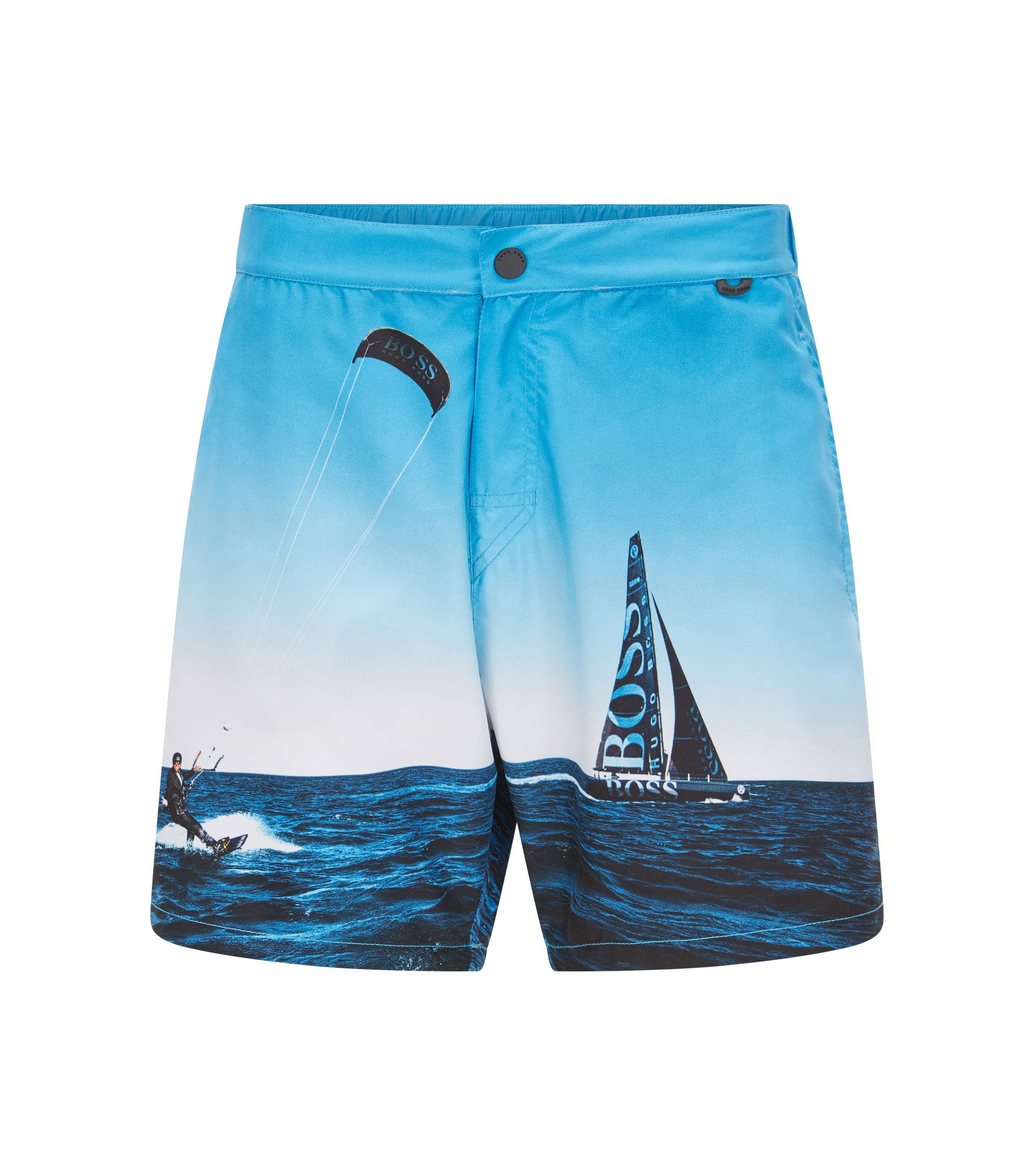 Quick Dry Racing Swim Trunks | Blackfish, Open Blue