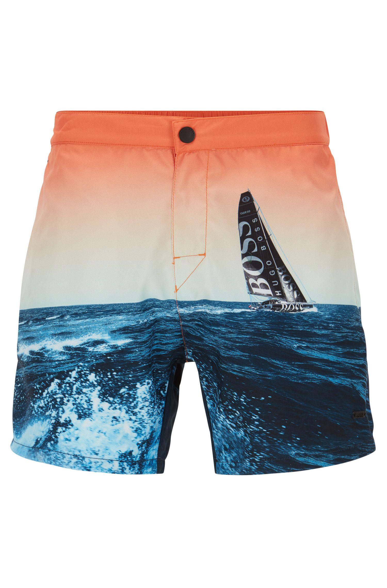 Quick Dry Racing Swim Trunks | Blackfish, Open Blue