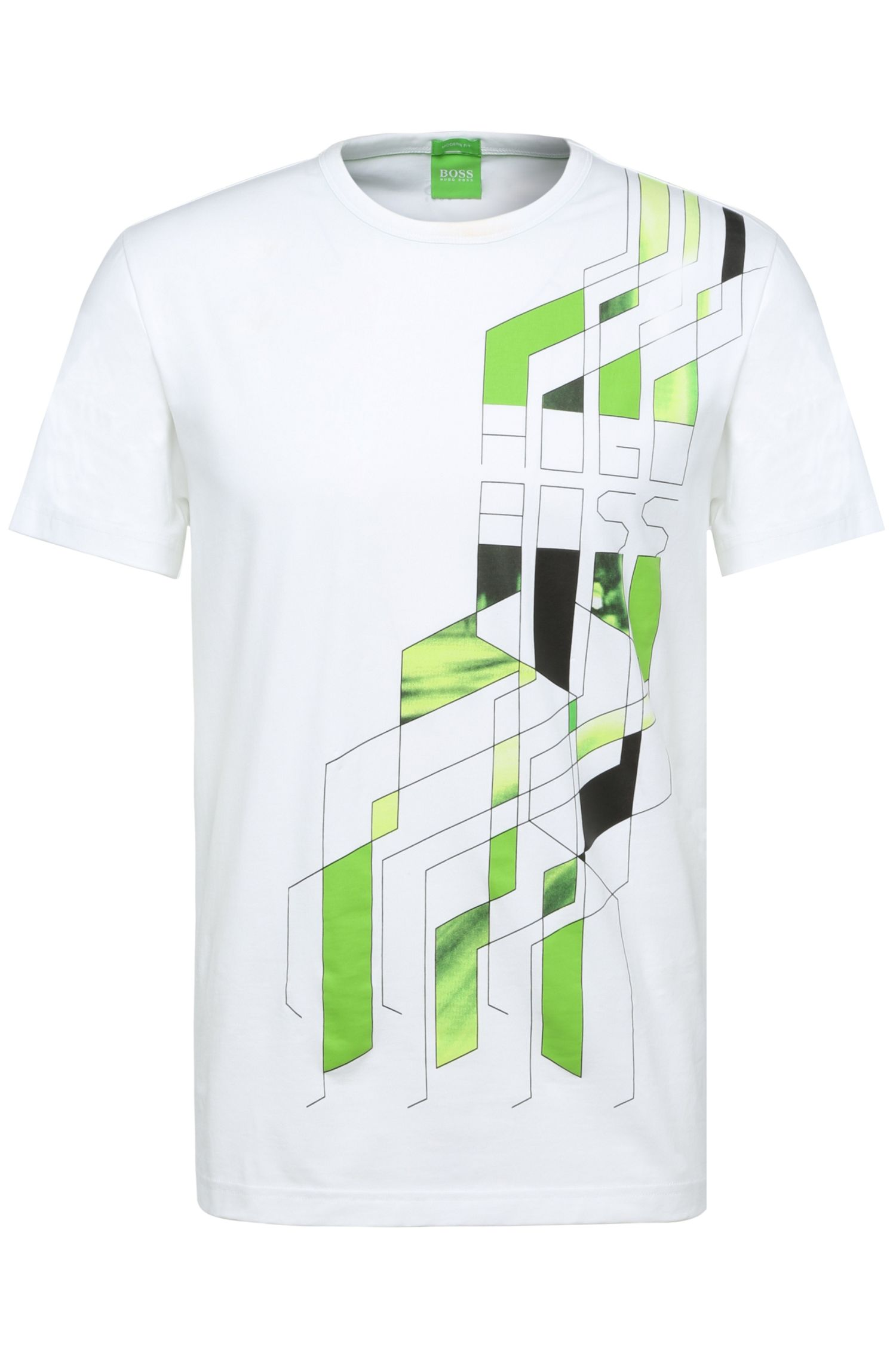 'Tee 5' | Stretch Cotton Geo-Graphic T-Shirt