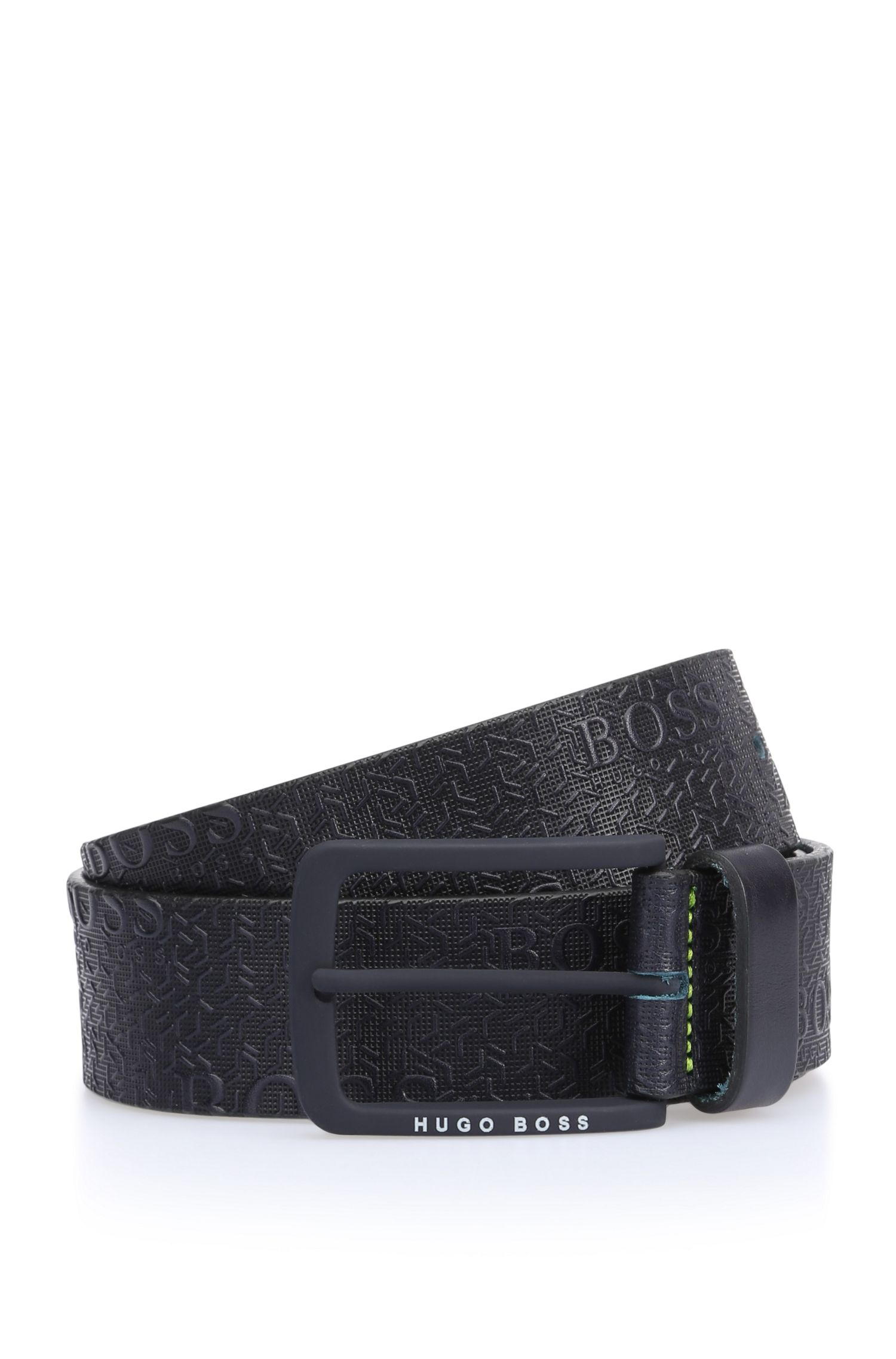 'Tad Sz40 ltem' | Leather Printed Belt