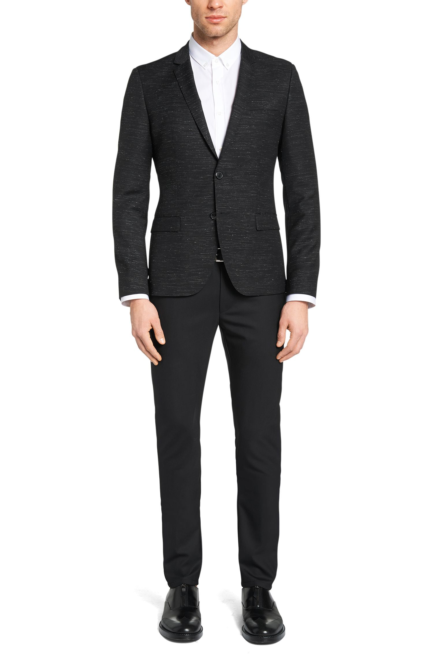 'Heralt' | Slim Fit, Stretch Virgin Wool trousers