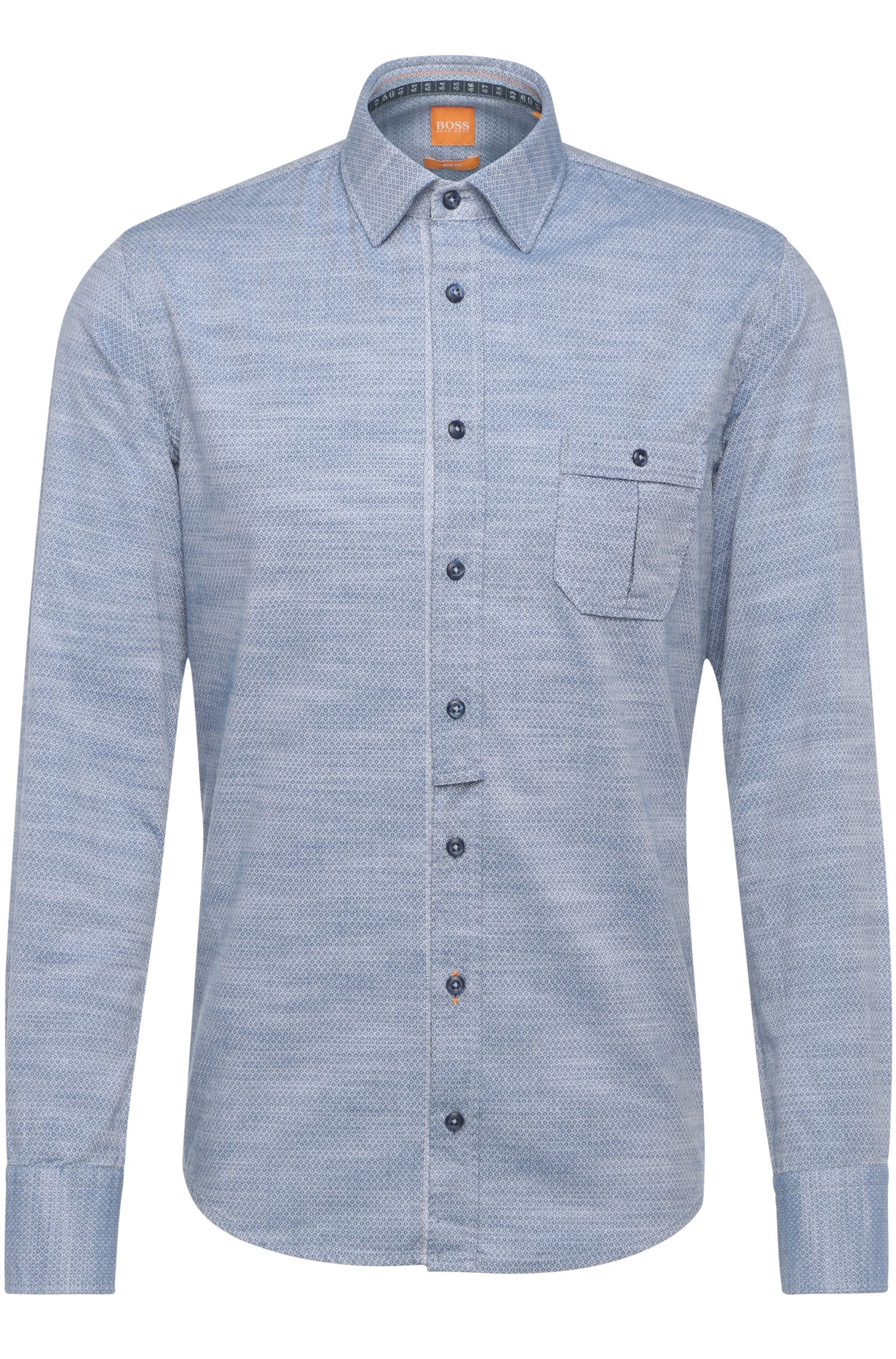 'EslimE' | Extra Slim Fit, Cotton Button Down Shirt