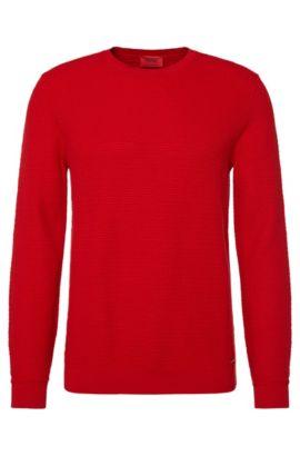 'Sorito' | Cotton Silk Cashmere Textured Sweater, Red