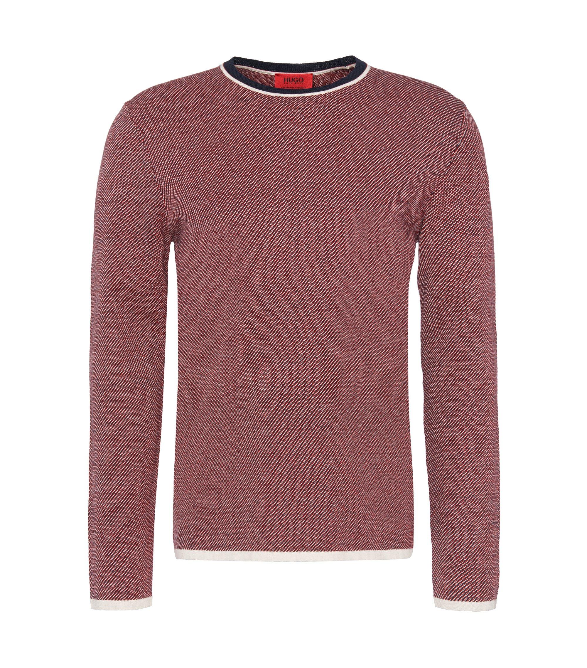 'Stip' | Cotton Silk Cashmere Sweater, Dark Blue