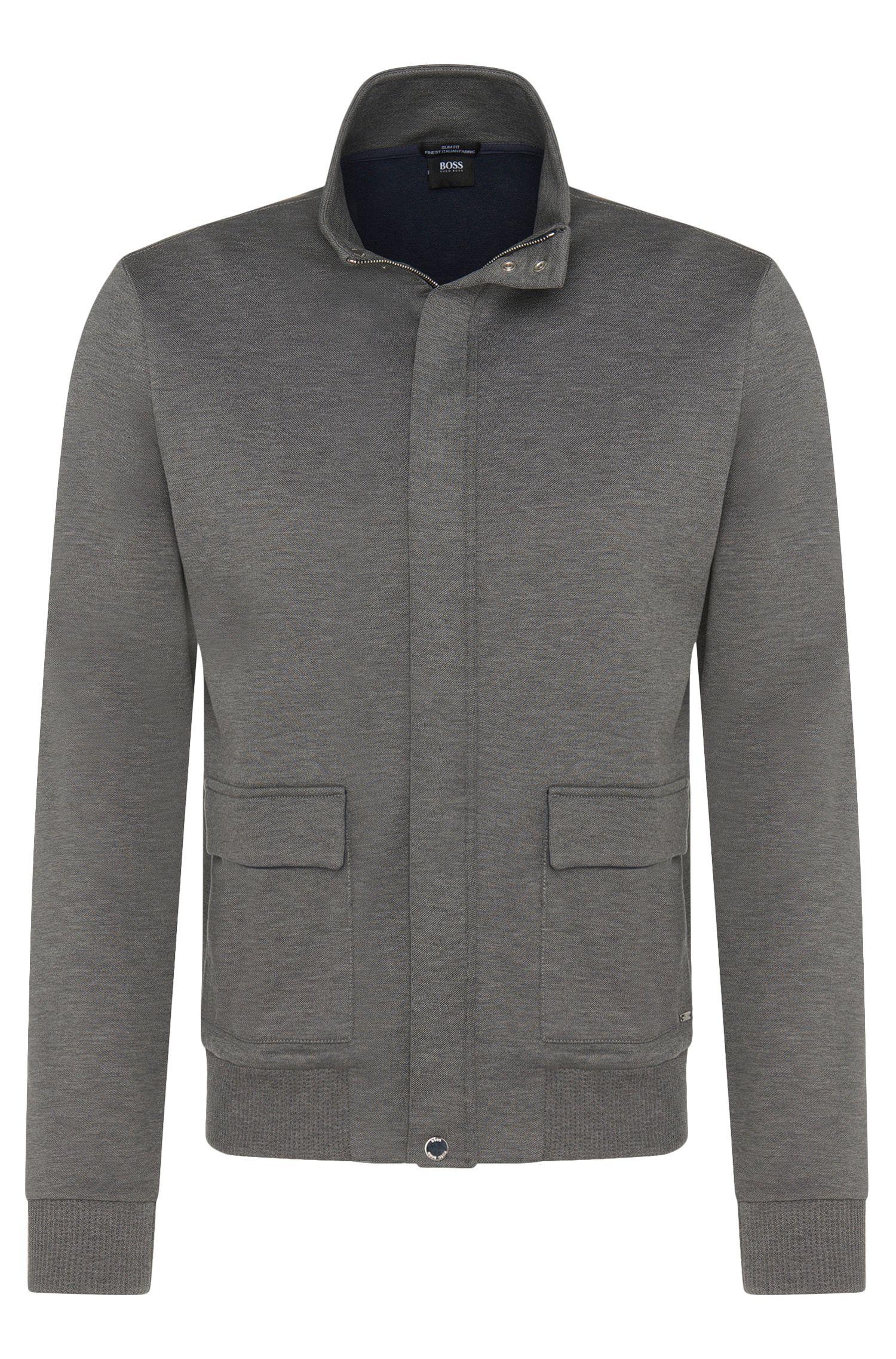 'Soule' | Italian Cotton Blend Sweat Jacket