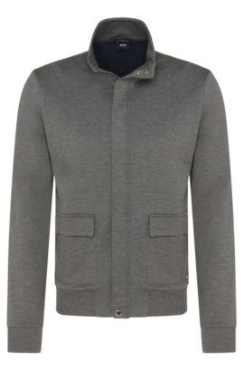 'Soule' | Italian Cotton Blend Sweat Jacket, Grey