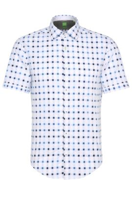 'Balduino' | Slim Fit, Cotton Button Down Shirt, White