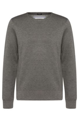 'Skubic' | Stretch Scuba Quilted Sweatshirt, Grey