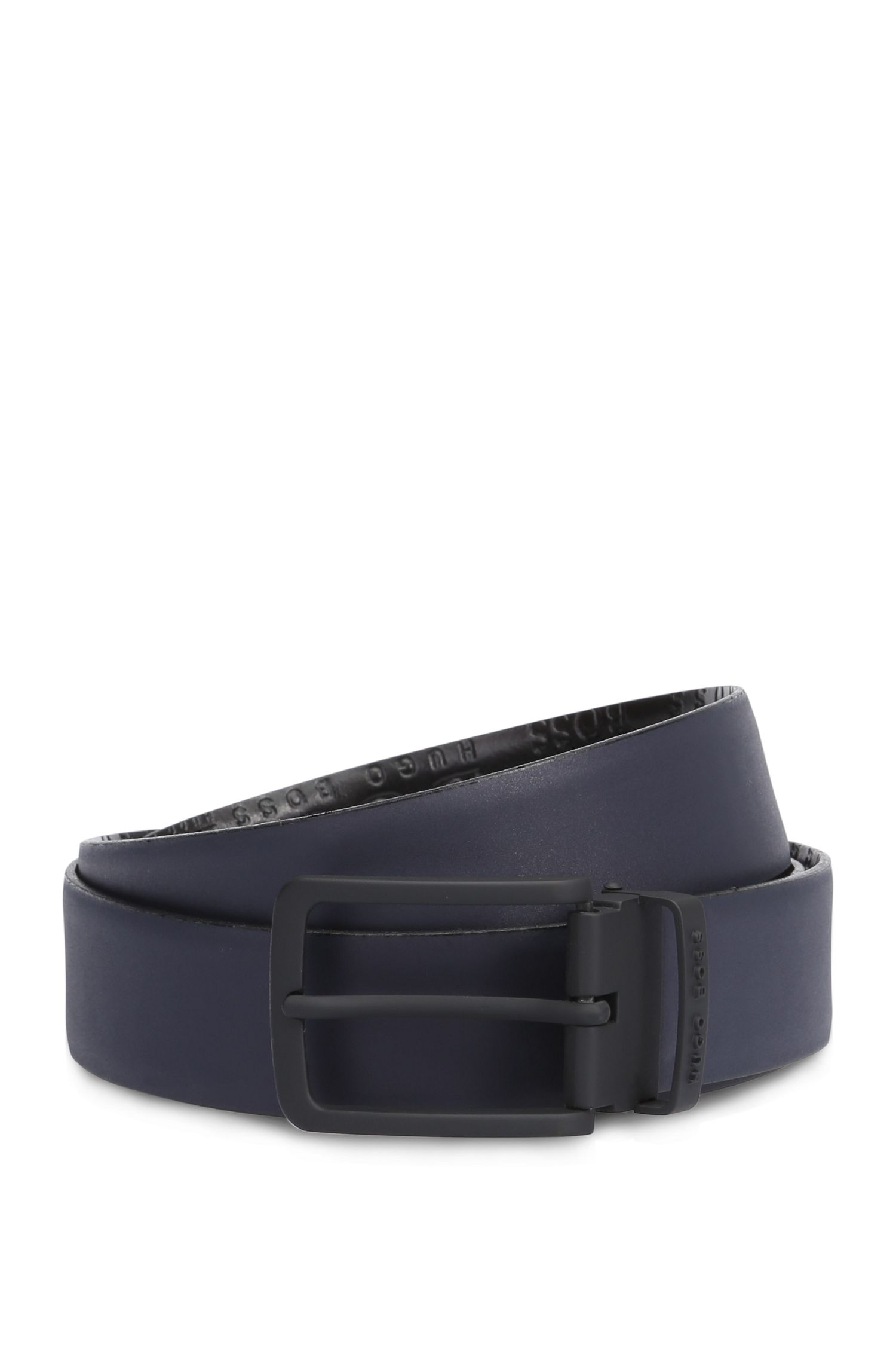 'Toby Or Ps' | Embossed Leather Belt
