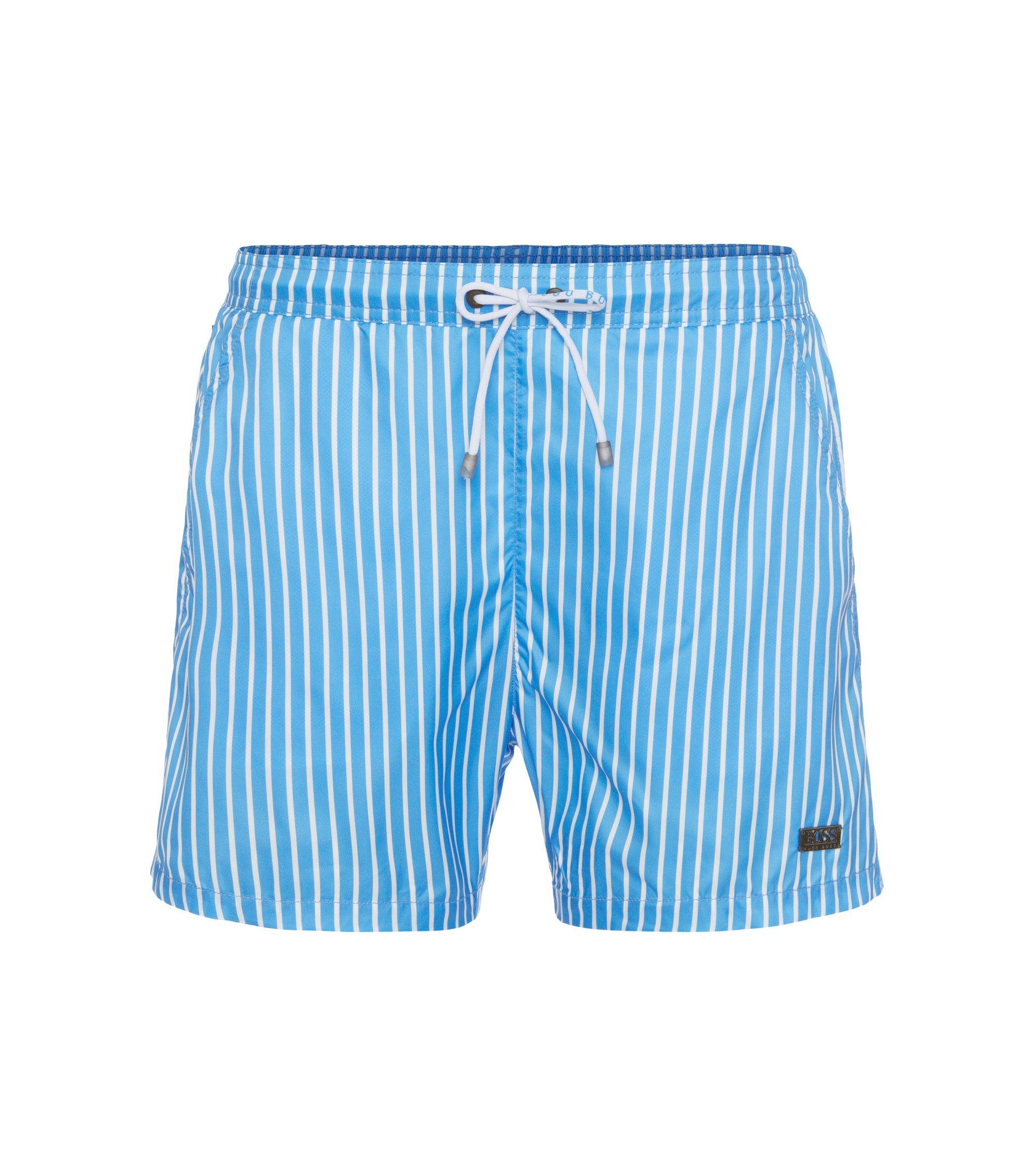 Striped Swim Trunks | Marlin, Open Blue