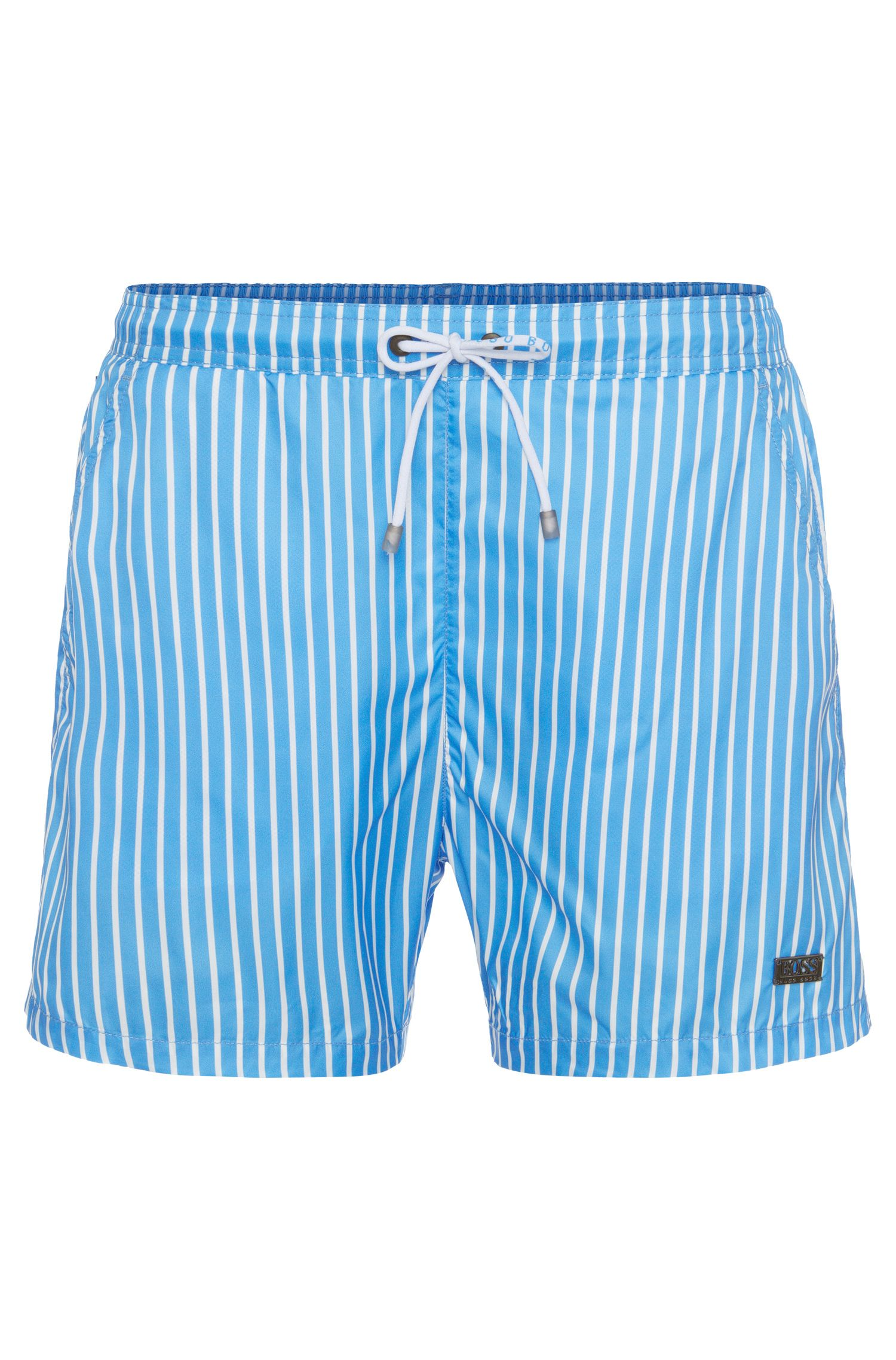 Striped Swim Trunks | Marlin, Open Blue