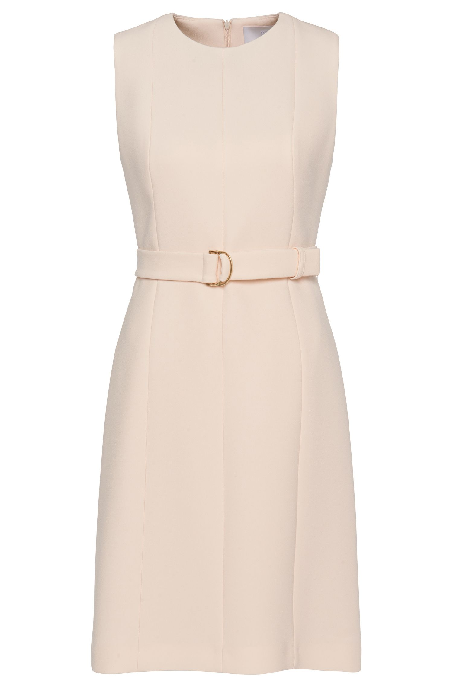 'Diganira' | Crepe Belted A-Line Dress