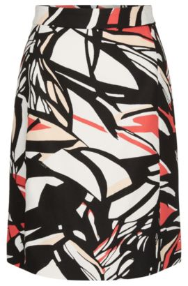 'Viphima' | Cotton Floral A-Line Skirt, Patterned