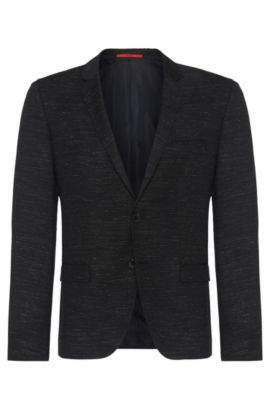 'Arti' | Slim Fit, Virgin Wool Sport Coat, Black