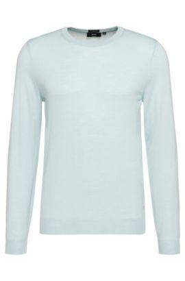 'Leno-H'   Virgin Wool Sweater, Light Green