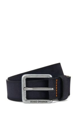 'Jordi' | Leather Belt, Dark Blue