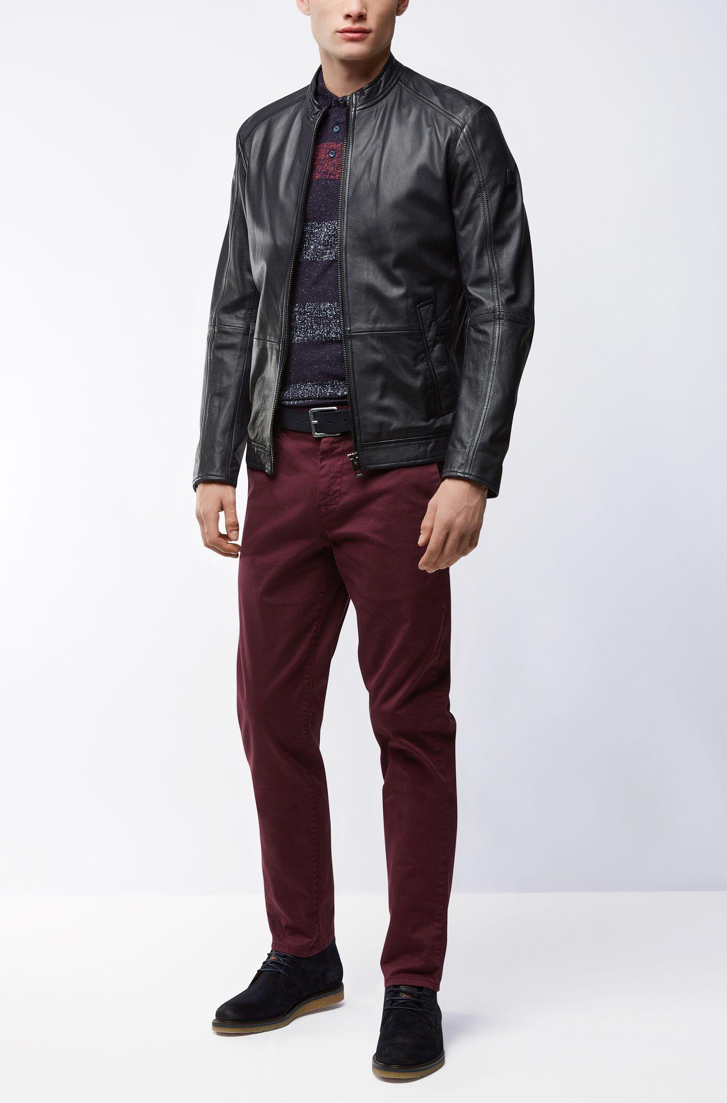 Leather Belt | Jordi, Dark Blue