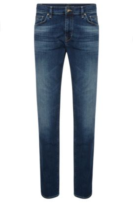 11 oz Stretch Cotton Jeans, Regular Fit | Maine, Dark Blue