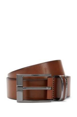 'Stacy Sz ltpl' | Leather Metal Loop Belt, Brown