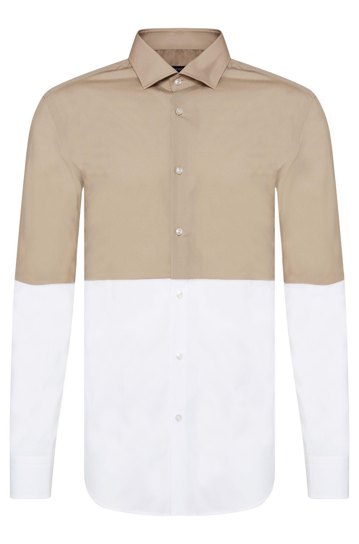 Colorblocked Cotton Dress Shirt, Slim-Fit | Jeven