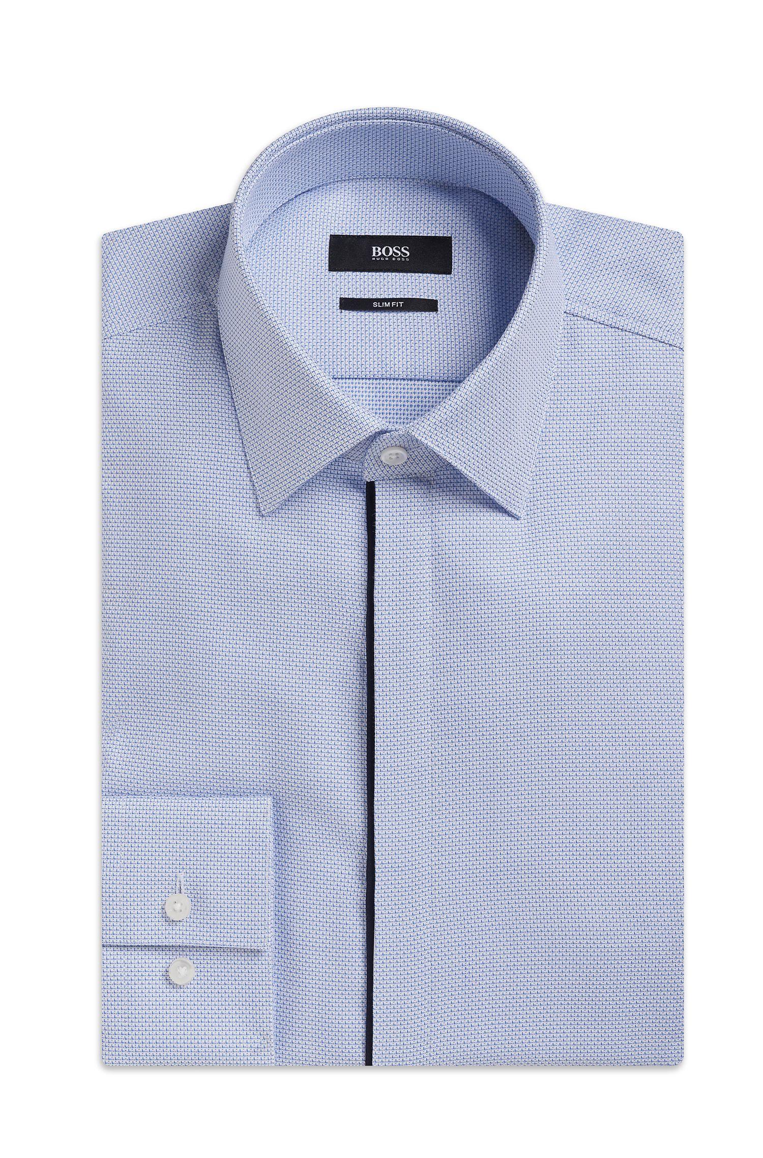 'Jamis'   Slim Fit, Cotton Patterned Dress Shirt