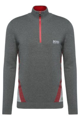 'Zelchior Pro W16' | Water Repellent Stretch Cotton Blend Sweater, Grey
