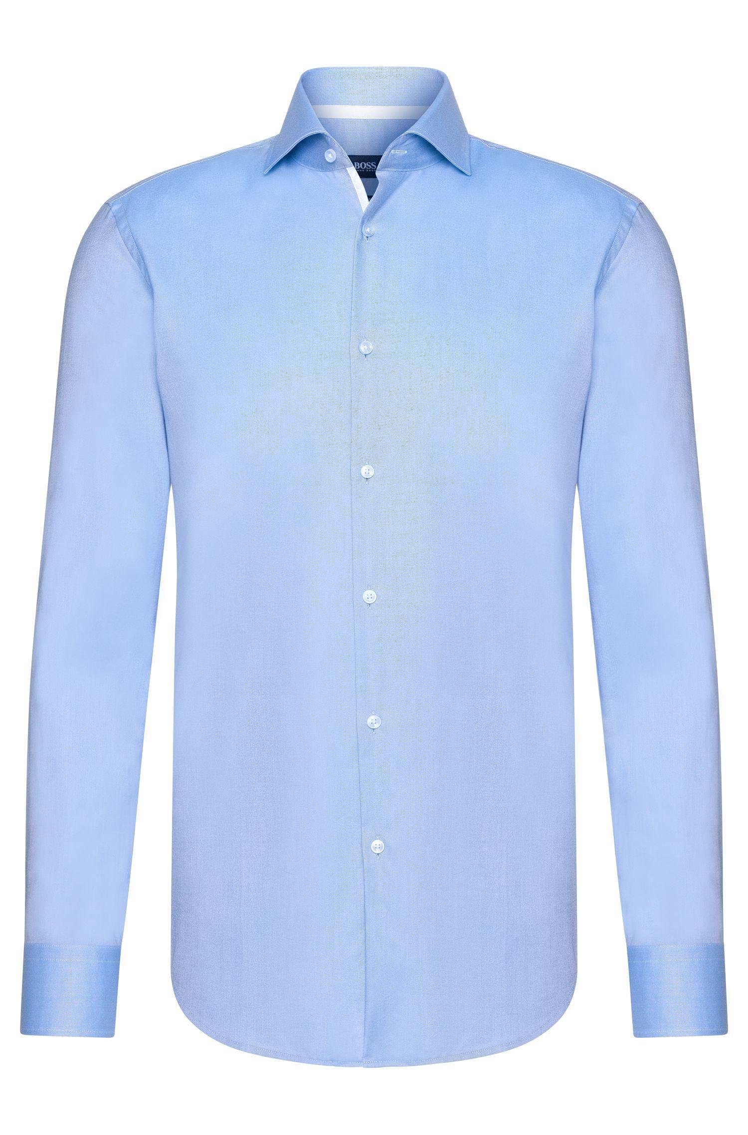 Contrast Cotton Dress Shirt, Slim Fit | Jery