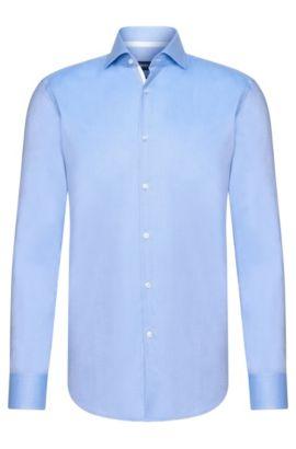 Contrast Cotton Dress Shirt, Slim Fit | Jery, Blue