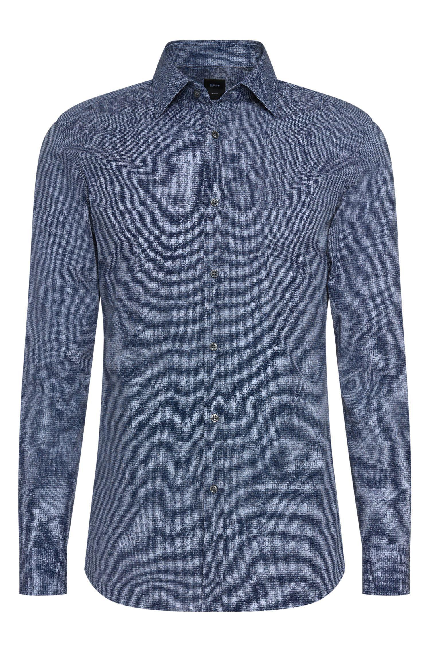 Italian Cotton Dress Shirt, Slim Fit   T-Shane