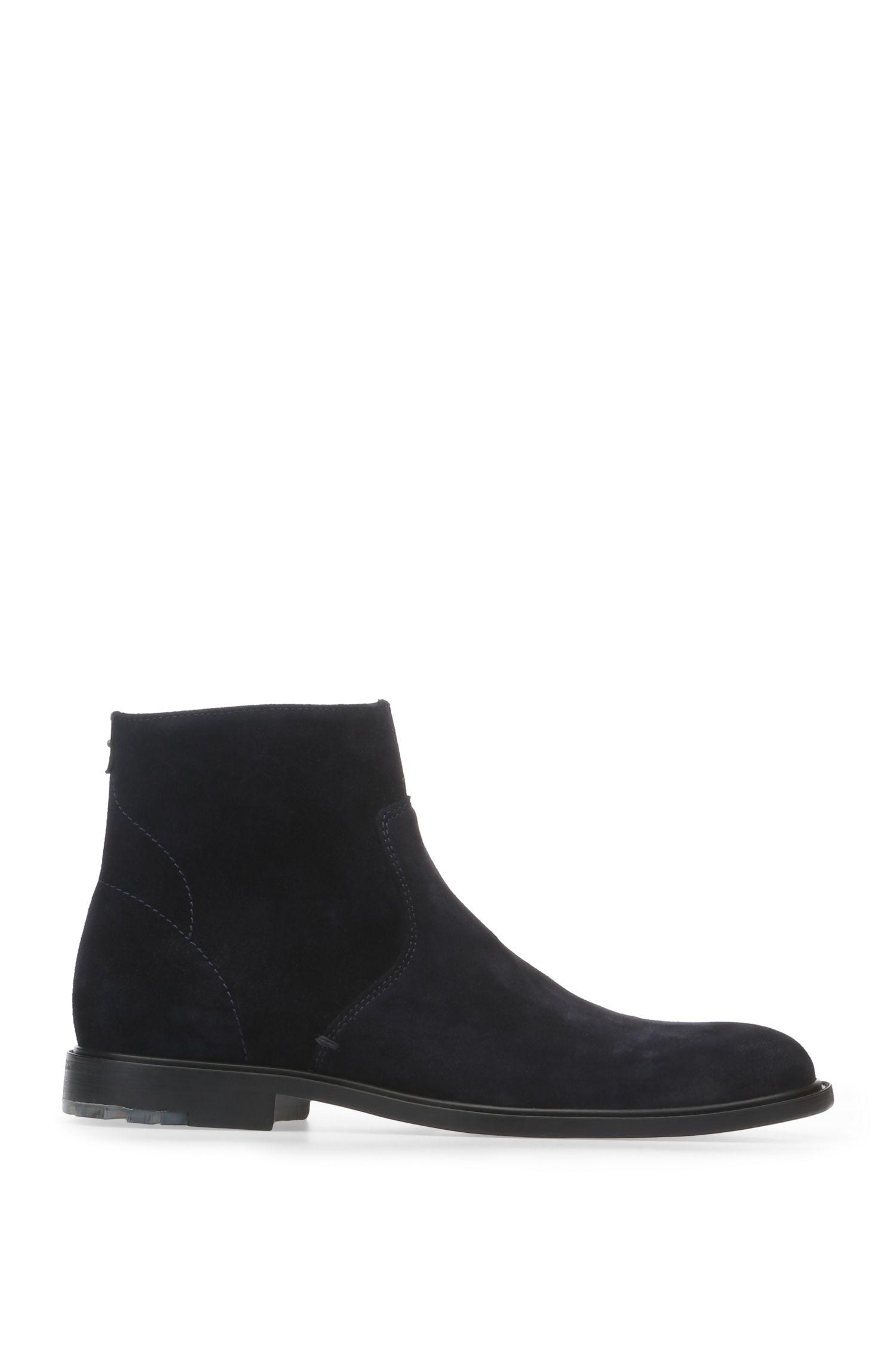 'Cultroot Zipb Sdpl' | Suede Calfskin Zip Ankle Boots