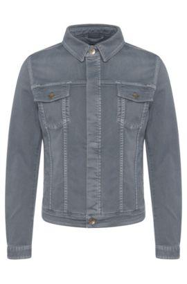 'Windham' | Stretch Cotton Denim Jacket, Turquoise