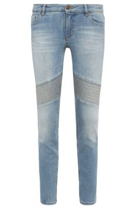 'Orange J Oslo'   Stretch Cotton Blend Moto Jeans, Blue