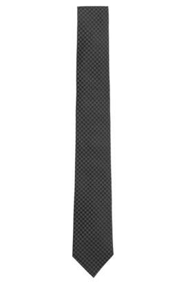 'Tie 6 cm' | Silk Houndstooth tie, Black