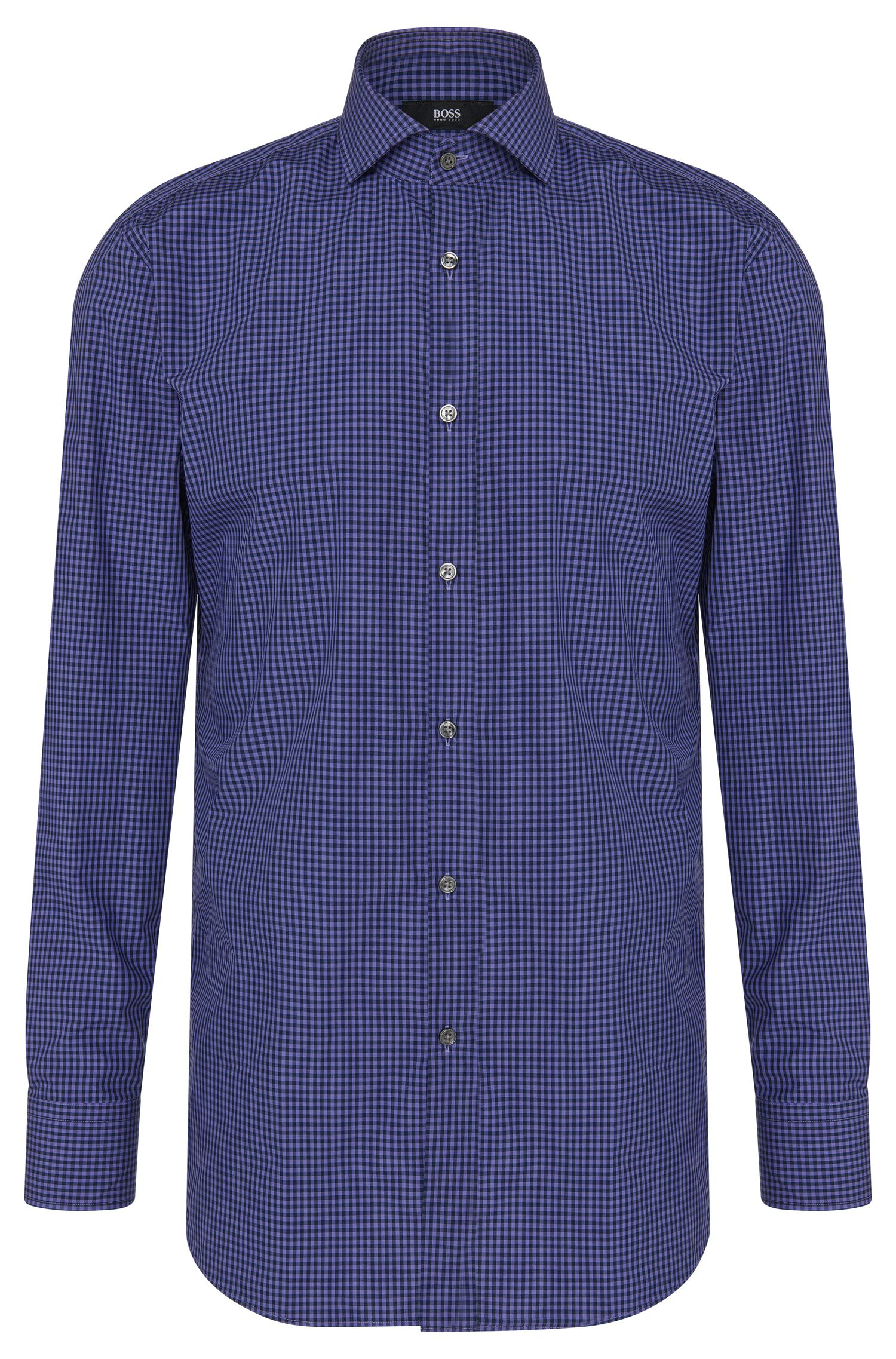Gingham Cotton Dress Shirt, Sharp Fit | Mark US
