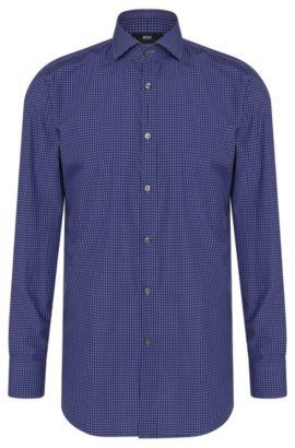 Gingham Cotton Dress Shirt, Sharp Fit | Mark US, Purple