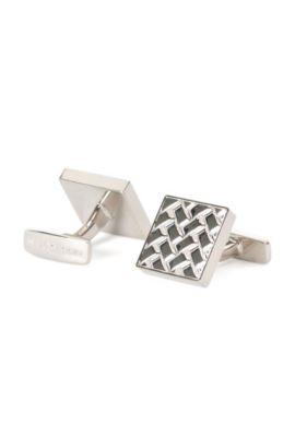 'Argo' | Polished Brass Cufflinks, Silver