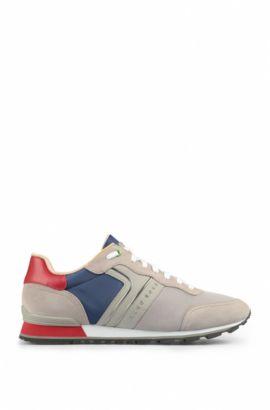 Suede Sneaker   Parkour Runn Nymx, Light Grey