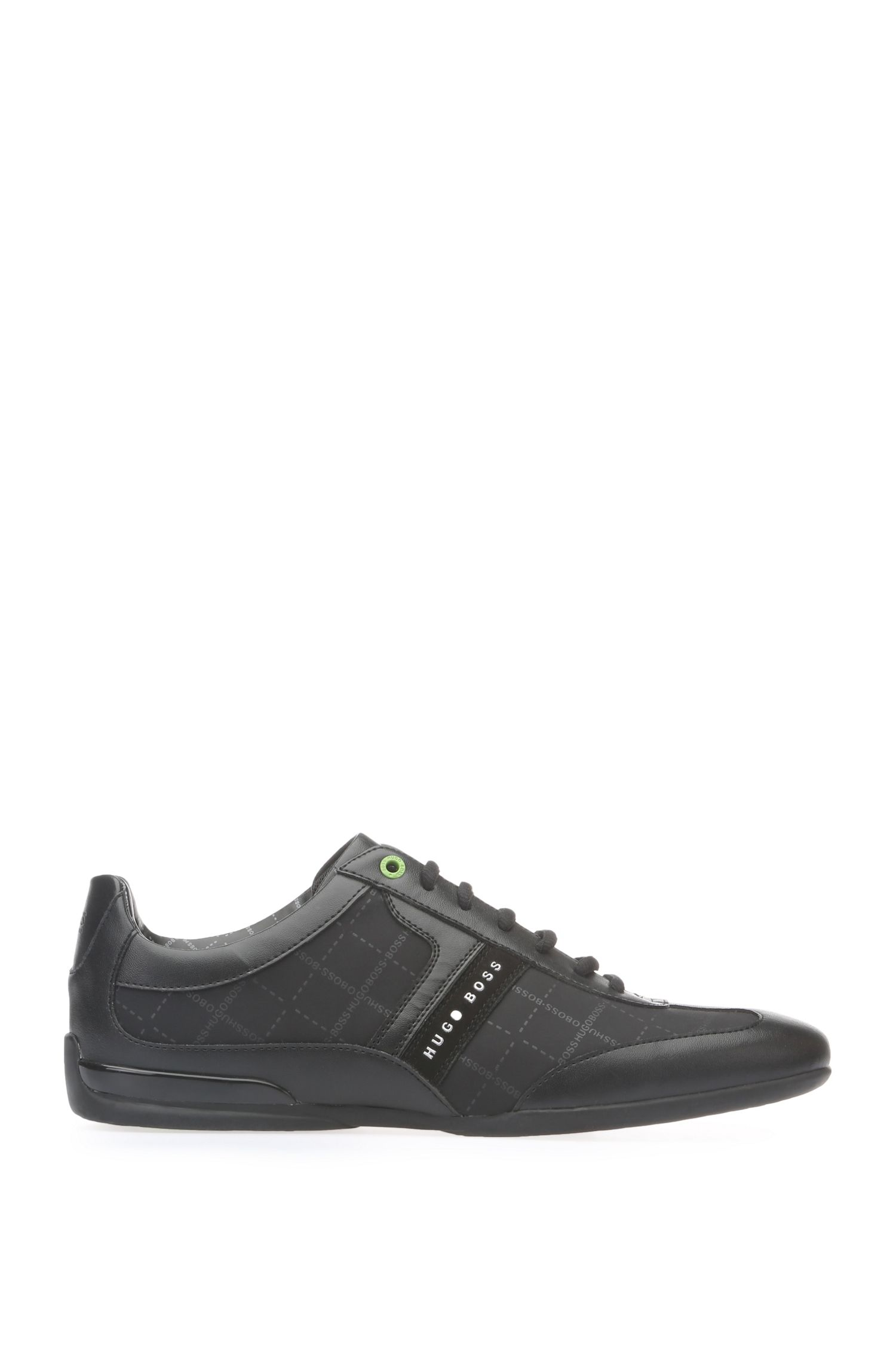'Space Lowp Nypr' | Logo Textile Sneakers, Black