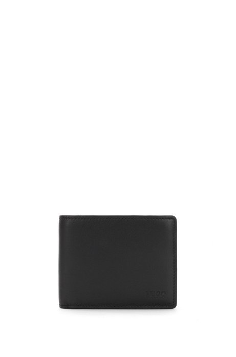 351fcdf0eca Bi-fold wallet in smooth leather, Black