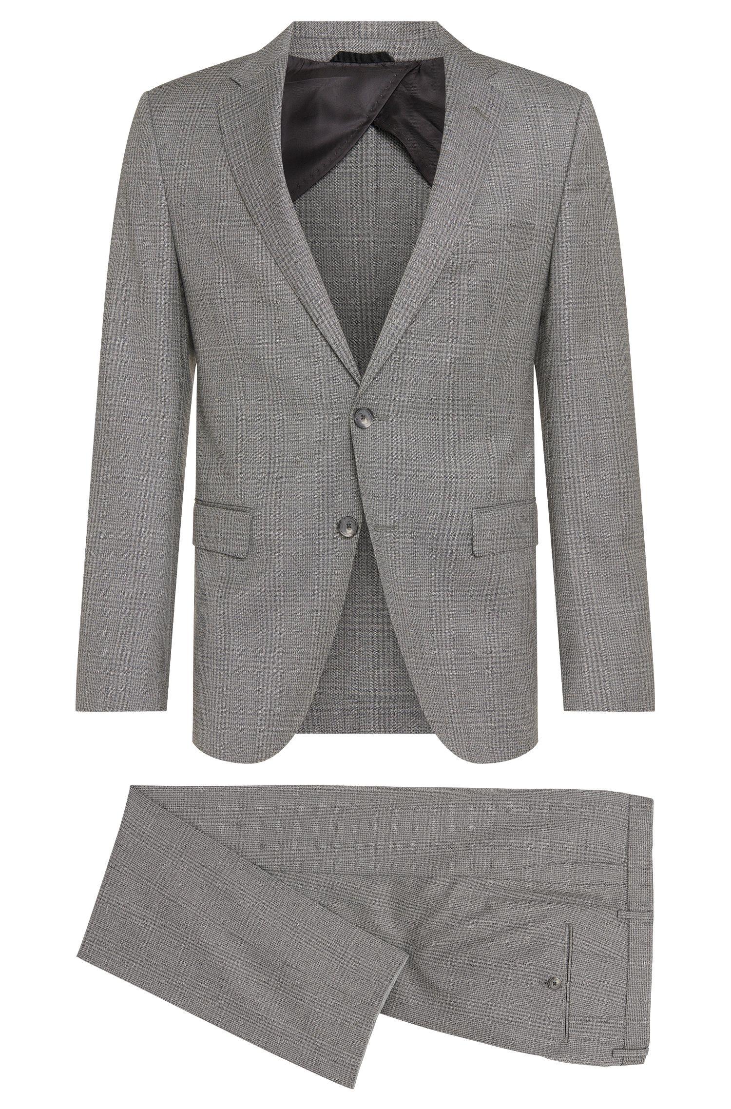 Glen Plaid Virgin Wool Plaid Suit, Slim Fit | Nortan/Benno