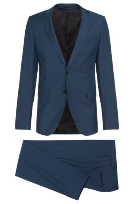 Super 130 Virgin Wool Suit, Extra-Slim Fit | Rocco/Wyatt, Turquoise