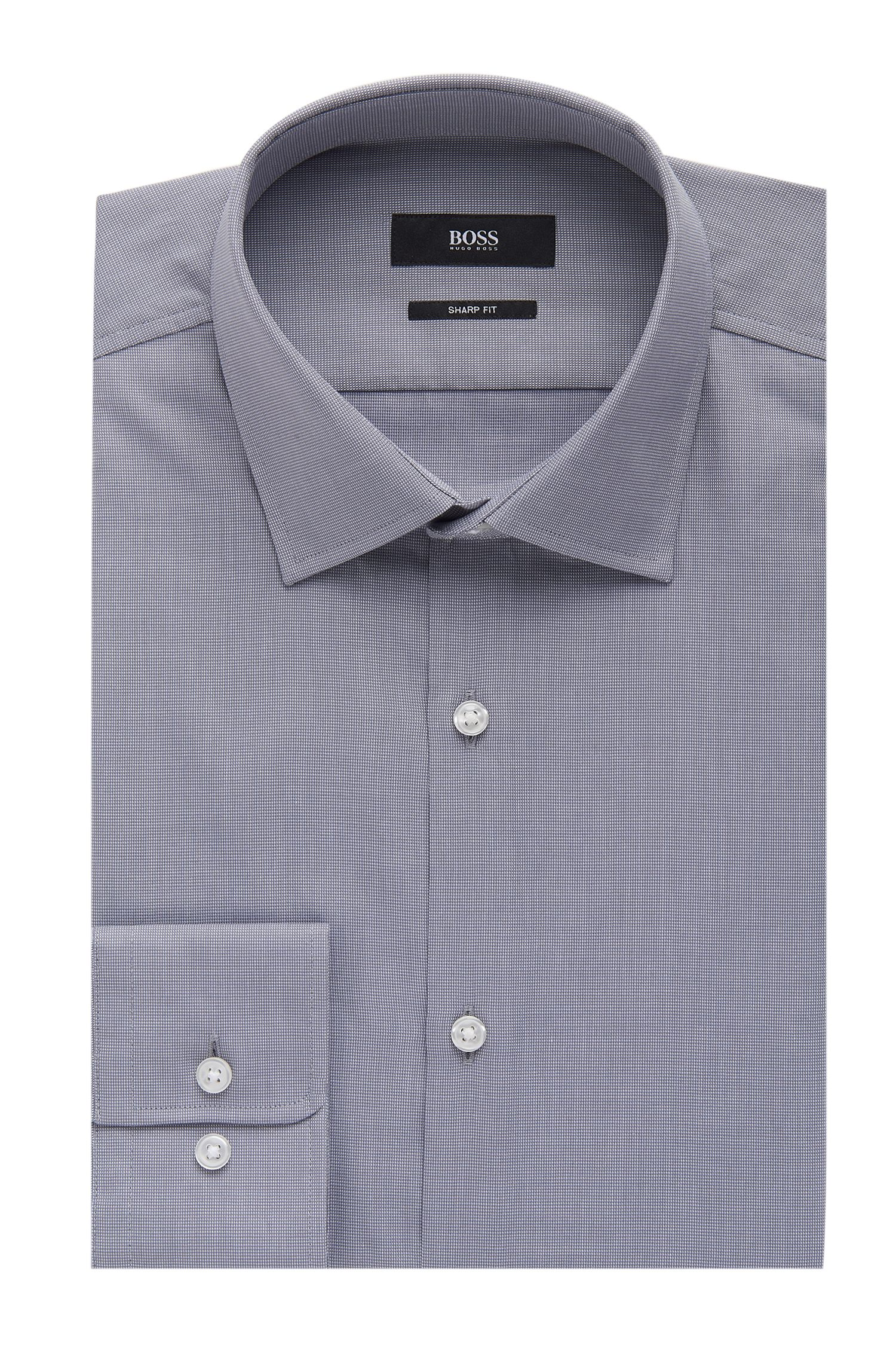 Nailhead Cotton Dress Shirt, Sharp Fit  Marley US