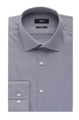 Nailhead Cotton Dress Shirt, Sharp Fit | Marley US, Grey