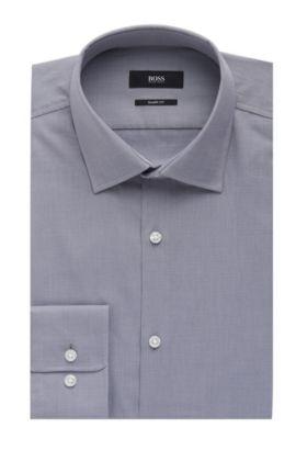 Nailhead Cotton Dress Shirt, Sharp Fit| Marley US, Grey