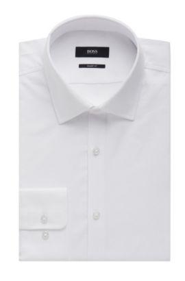 Nailhead Cotton Dress Shirt, Sharp Fit| Marley US, White