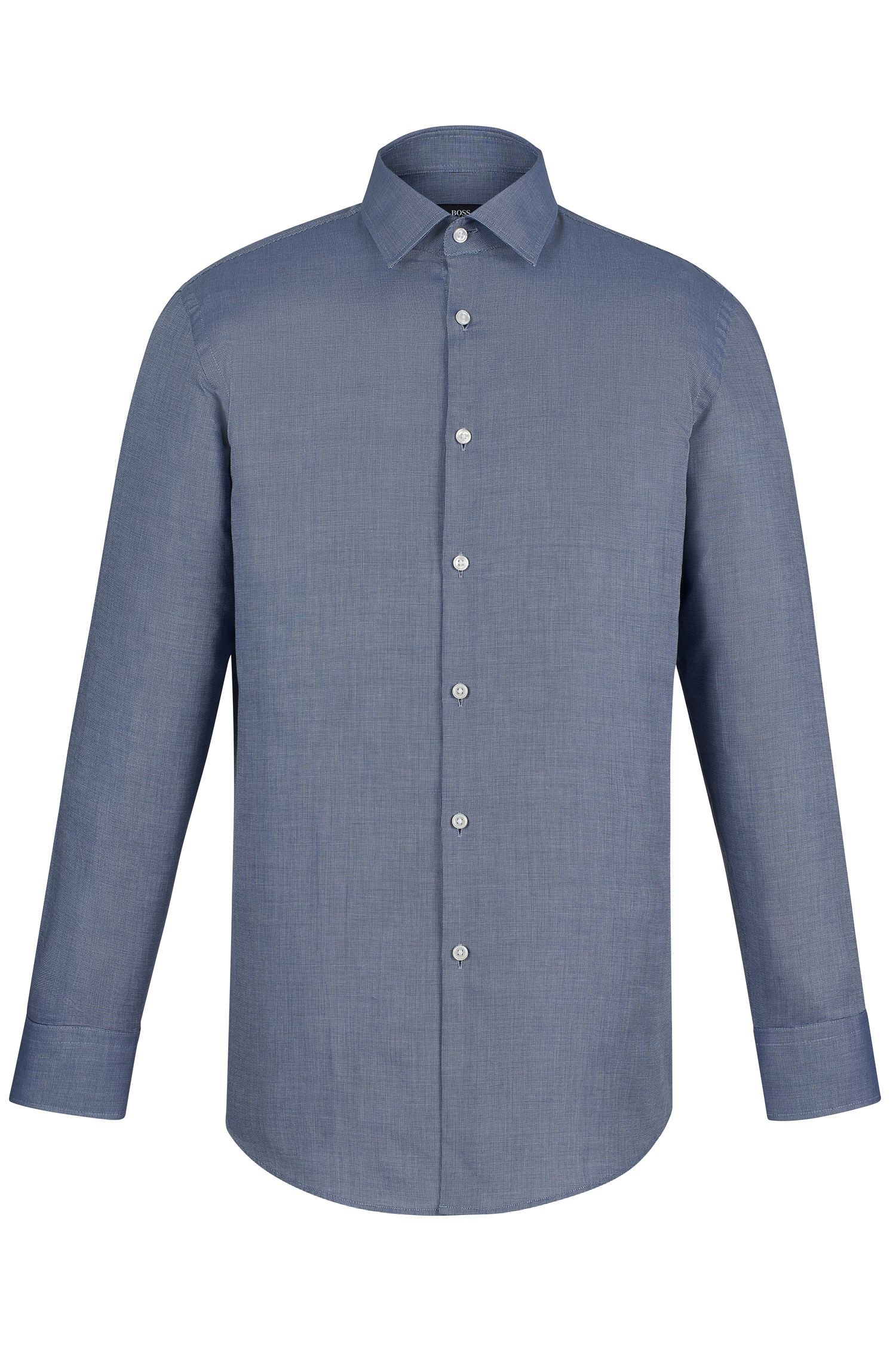 Nailhead Cotton Dress Shirt, Sharp Fit | Marley US