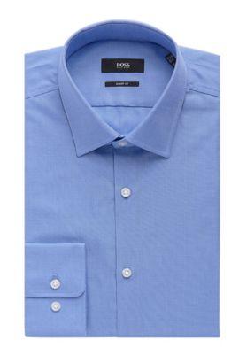 Nailhead Cotton Dress Shirt, Sharp Fit| Marley US, Light Blue