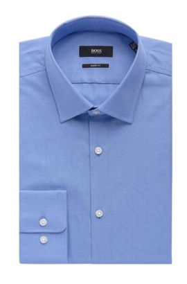 Nailhead Cotton Dress Shirt, Sharp Fit | Marley US, Light Blue