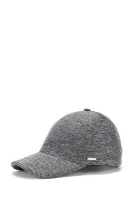 'Seranio' | Stretch Cotton Blend Baseball Cap, Grey